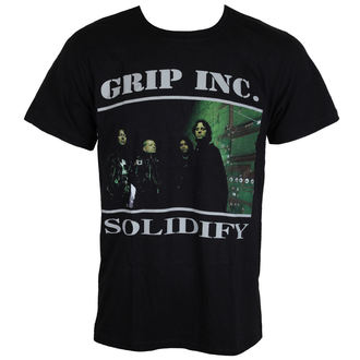 t-shirt metal men's Grip Inc. - Solidify - MASSACRE RECORDS, MASSACRE RECORDS, Grip Inc.