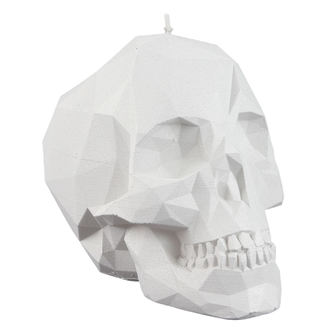 Candle Skull - White