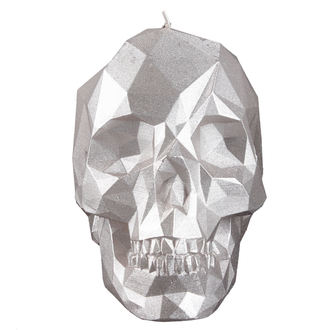 Candle Skull - Silver