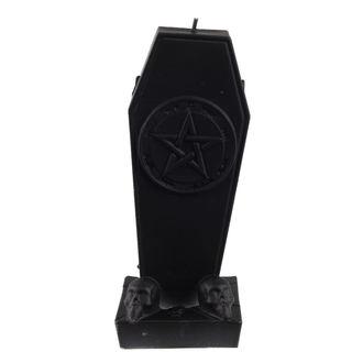 candle Coffin with Pentagram - Black Matt - YO023