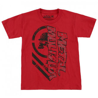 t-shirt street men's children's - BURN - METAL MULISHA - RED_SP7L18002.01