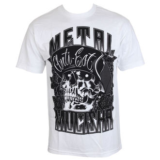 t-shirt street men's - WOODCUT - METAL MULISHA - WHT_SP7518030.01