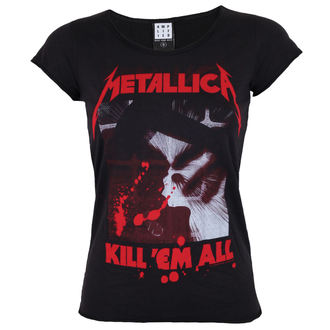 t-shirt metal women's Metallica - METALLICA - AMPLIFIED, AMPLIFIED, Metallica