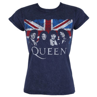 t-shirt metal women's Queen - Denim - ROCK OFF, ROCK OFF, Queen