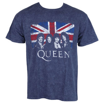 t-shirt metal men's Queen - Denim - ROCK OFF, ROCK OFF, Queen