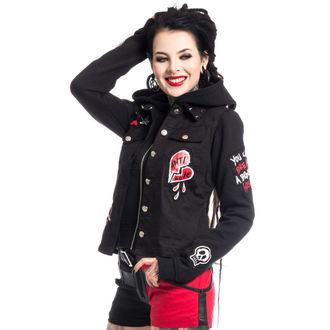hoodie women's - ANTI LOVE - HEARTLESS - POI340