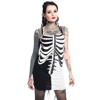 dress women Heartless - FRACTURE - BLACK / WHITE, HEARTLESS