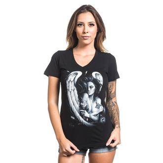 t-shirt women SULLEN - INK ANGEL - BLACK, SULLEN