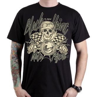 t-shirt street men's - MOTO PSYCHO - BLACK HEART, BLACK HEART