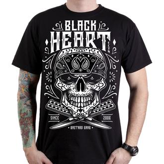 t-shirt street men's - BANDANA SKULL - BLACK HEART, BLACK HEART