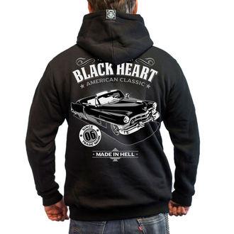 hoodie men's - CADILLAC - BLACK HEART, BLACK HEART