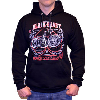 hoodie men's - FLAME CHOPPER - BLACK HEART, BLACK HEART
