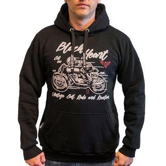 hoodie men's - EVIL - BLACK HEART, BLACK HEART