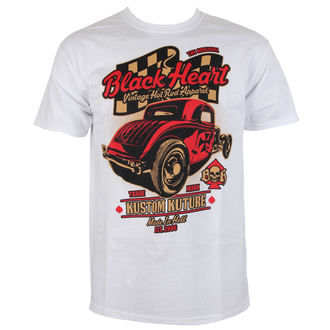 t-shirt men BLACK HEART - BONNEVILLE ROD - WHITE, BLACK HEART