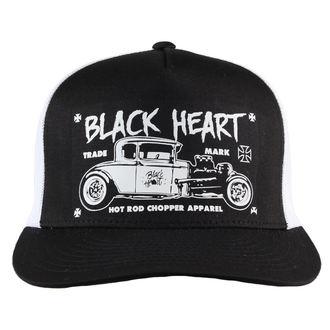 cap BLACK HEART - HOT ROD CROSS - WHITE, BLACK HEART
