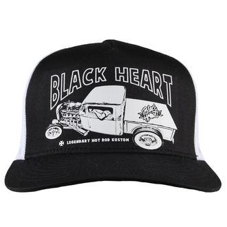 cap BLACK HEART - PICK UP MARK - WHITE, BLACK HEART