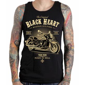 top men BLACK HEART - HARLEY - BLACK, BLACK HEART