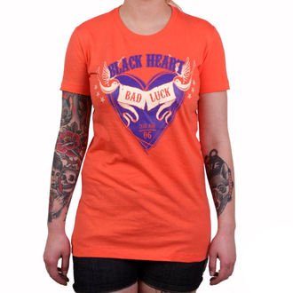 t-shirt street women's - BAD LUCK - BLACK HEART, BLACK HEART