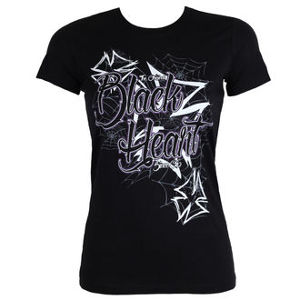 t-shirt street women's - CROSS - BLACK HEART, BLACK HEART