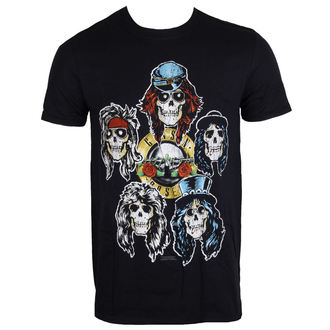 t-shirt metal men's Guns N' Roses - Vintage Heads - ROCK OFF, ROCK OFF, Guns N' Roses