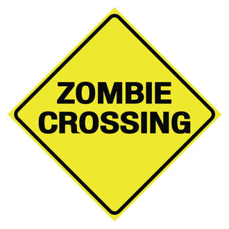 signs Zombie Crossing