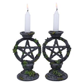 candlestick (set) Wiccan Pentagram - B2539G6
