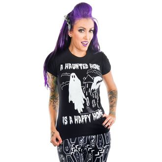 t-shirt gothic and punk women's - HAUNTED HOUSE - TOO FAST, TOO FAST