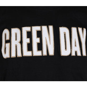 t-shirt metal men's Green Day - Logo & Grenade Applique Slub - ROCK OFF, ROCK OFF, Green Day