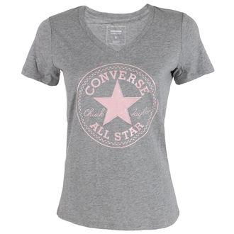 t-shirt street women's - Metallic Chuck Patch Vneck - CONVERSE, CONVERSE