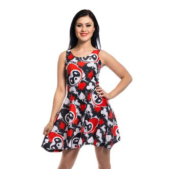 dress women KILLER PANDA - CARD - BLACK / RED, KILLER PANDA