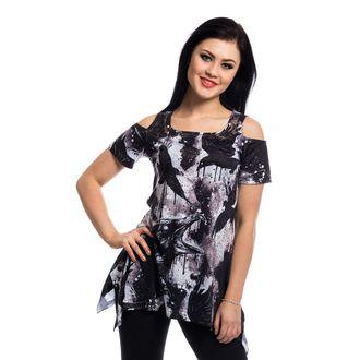 dress women (top) VIXXSIN - CROW LACE PANEL - BLACK, VIXXSIN