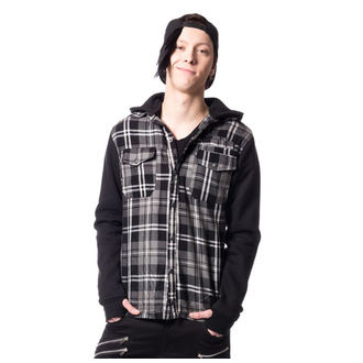 hoodie men's - QUINN JACKET MENS GREY CHECK - VIXXSIN - POI403