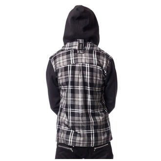 hoodie men's - QUINN JACKET MENS GREY CHECK - VIXXSIN, VIXXSIN