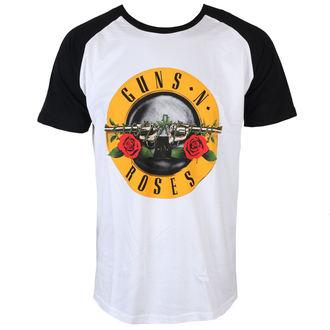 t-shirt metal men's Guns N' Roses - Circle Logo - ROCK OFF - GNRSSRAG02MB