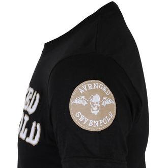 t-shirt metal men's Avenged Sevenfold - Logo & Deathbat Applique - ROCK OFF, ROCK OFF, Avenged Sevenfold