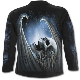 t-shirt men's - WINGED SKELTON - SPIRAL - T142M301