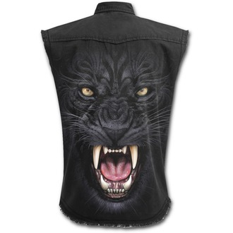 shirt men with no sleeveless SPIRAL - TRIBAL PANTHER - Black, SPIRAL