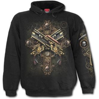 hoodie men's - STEAMPUNK SKELETON - SPIRAL, SPIRAL