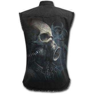 shirt men with no sleeveless SPIRAL - BIO-SKULL - Black, SPIRAL