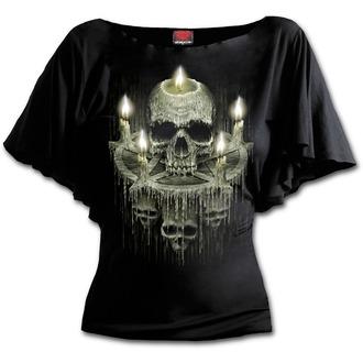 t-shirt women's - WAXED SKULL - SPIRAL - K045F719