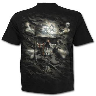 t-shirt men's - CAMO-SKULL - SPIRAL - T141M101