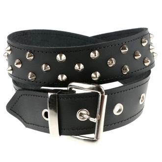 belt PYRAMIDS, BLACK & METAL