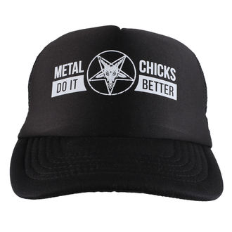 cap METAL CHICKS DO IT BETTER - Baphomet - Logo - Black, METAL CHICKS DO IT BETTER