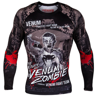 t-shirt street men's - Zombie Return Rashguard - VENUM - VENUM-03220-001