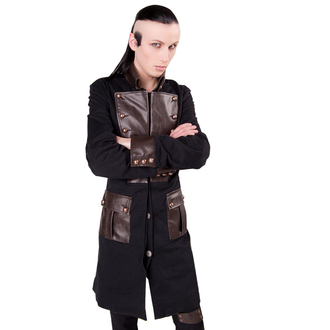 coat men's Aderlass - Steam Punk Coat Denim Black-Brown, ADERLASS
