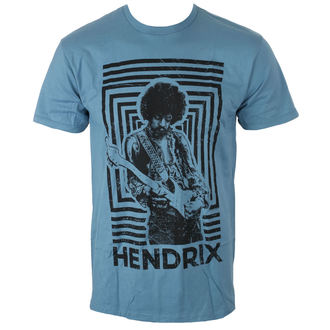 t-shirt metal men's Jimi Hendrix - AUTHENTIC SQUARES BLUE - BRAVADO, BRAVADO, Jimi Hendrix