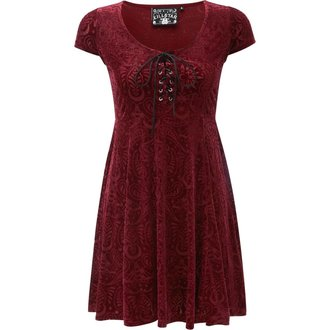 Women's dress KILLSTAR - Angelyn - WINE - KSRA000033