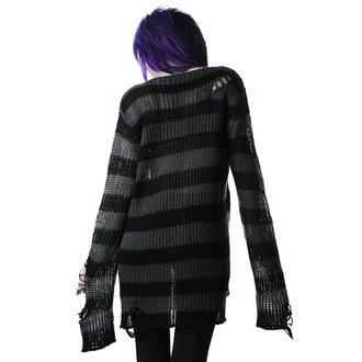 Sweater KILLSTAR - Ash Distress - BLACK, KILLSTAR