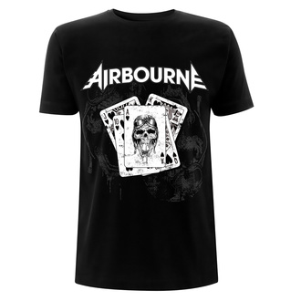 t-shirt metal men's Airbourne - Playing Cards - NNM - RTAIRTSBPLA