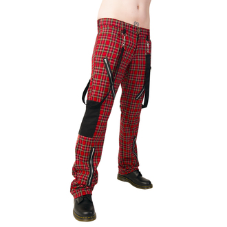 pants Black Pistol - Punk Pants Tartan Red-Green - B-1-01-060-04
